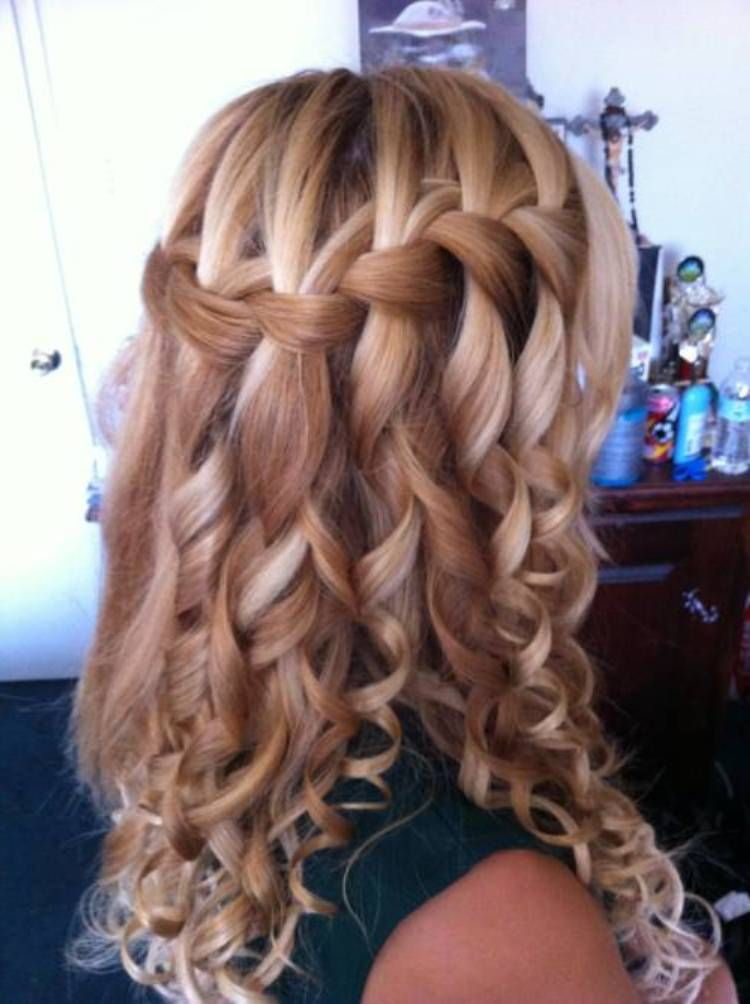 Waterfall French Braid Long Hair Hairstyles