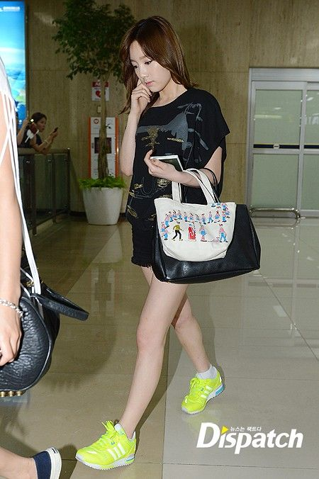 [120807] SNSD at Gimpo Airport back from Japan