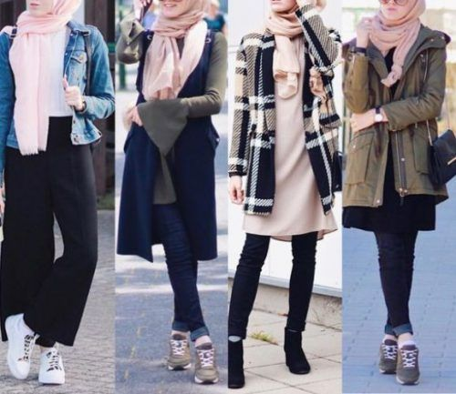 6eb7c8210c83 Trendy hijab style for 2018 – Just Trendy Girls #hijabfashion ...