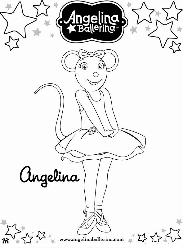 Angelina Ballerina Coloring Pages 5 | 1st Dance Party | Pinterest ...