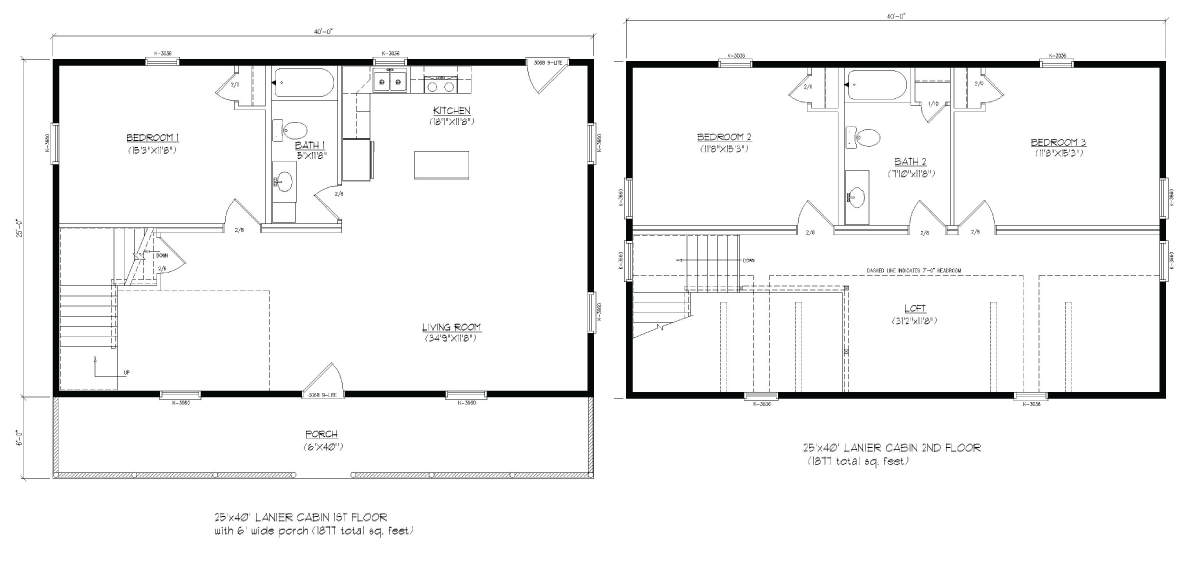 25x40 Lanier floor plan that would work for grandparents and one ...