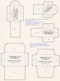 Free Mini Envelope Templates  Freebees  Printables