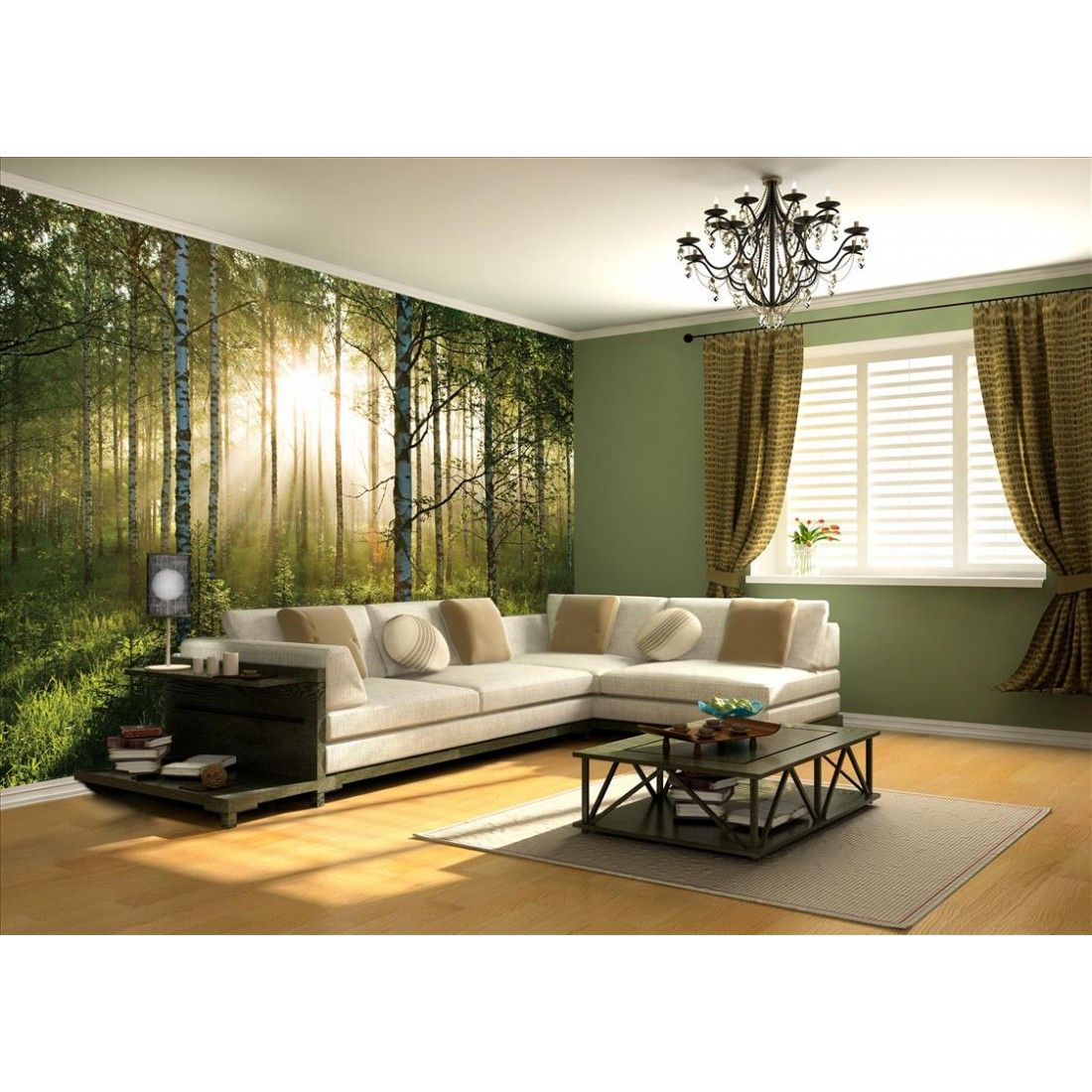 Photo Wallpaper Mural  Google Search  Chandeliers  Pinterest Captivating Living Room Wallpaper Design Ideas Review