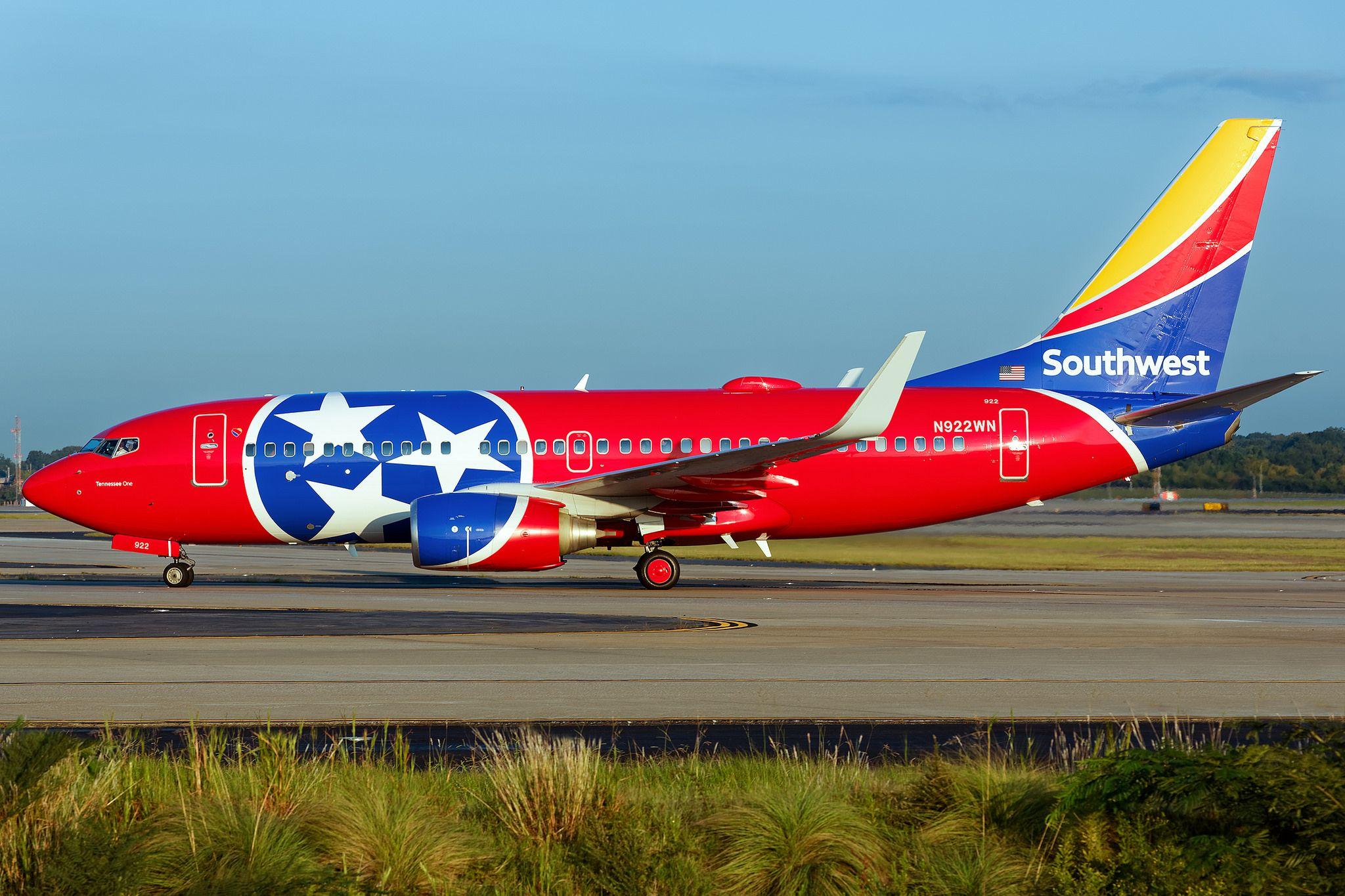 N922WN Boeing 7377H4(WL) Southwest KATL Sept 2016