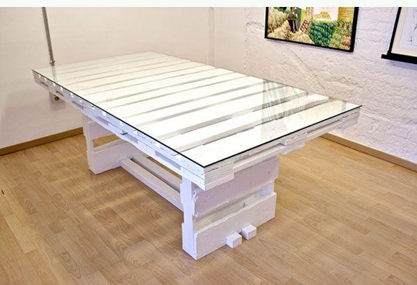 ideas creativas para reciclar palets resiclados pinterest beautiful mesas de comedor y mesas blancas