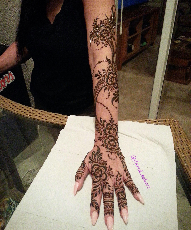 Gulf Khaleeji Style Henna Design Tampa Florida Khafif Mehndi