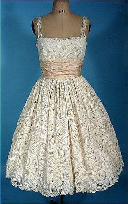 Wedding dress 1950. | Antik divat | Pinterest | Vintage weddings ...