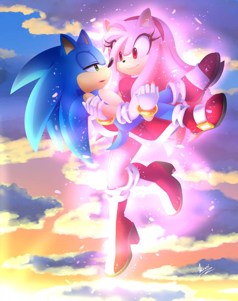 My Turn To Save You By Myly14 With Images Sonic And Amy Sonic