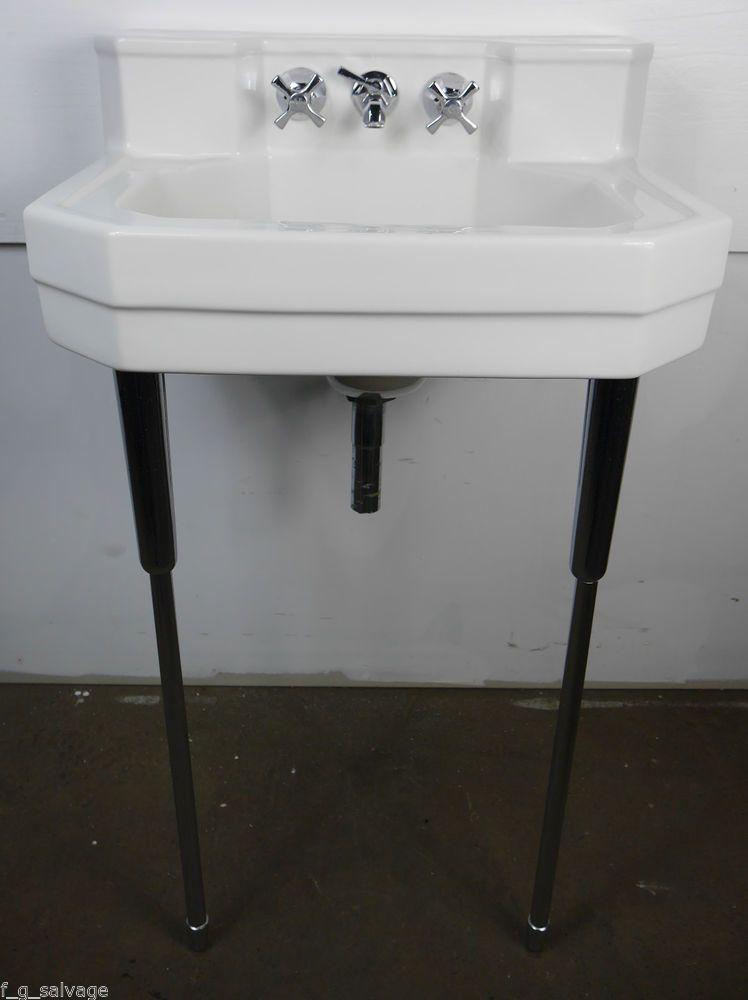 Antique Vintage Eljer Bathroom Sink White1950 S Martha Washington