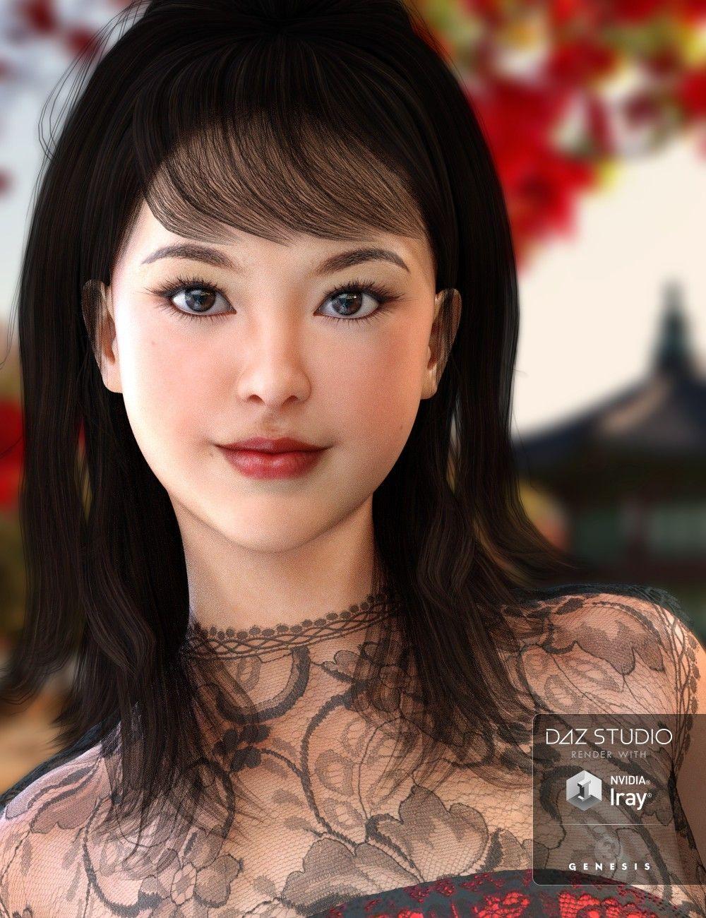 3D Asian Girl akiko for mei lin 7 | 3d models and 3d softwaredaz 3d