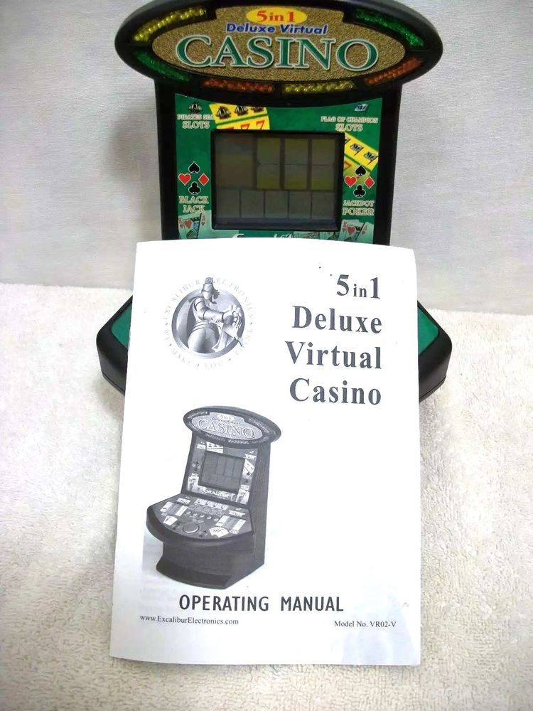 Excalibur 5 in 1 deluxe virtual casino electronic hand