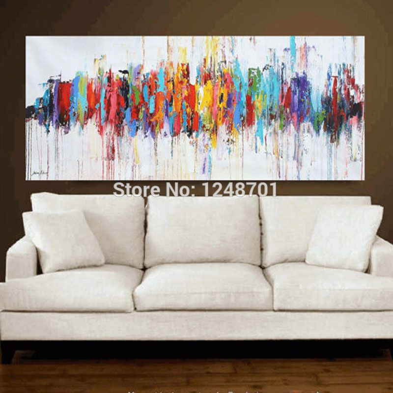 High Quality Modern Abstract Oil Paintings On Canvas Turquoise Wall Art Paintings For  Living Room Home Decor Pictures