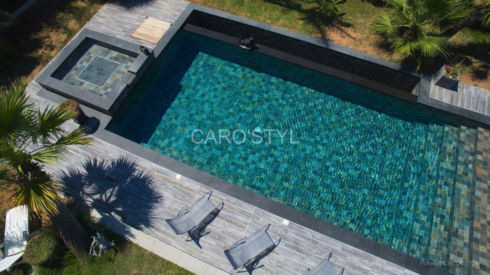 Piscine En Carrelage Green Bali 15x15 Cm Un Denuancage