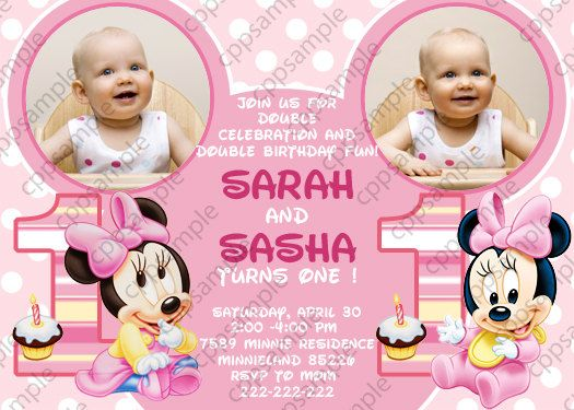 Download Now Twin Birthday Invitations Ideas Download this - birthday invitation card template