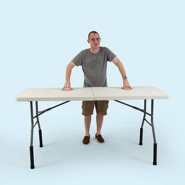 Folding Table Leg Risers Extenders Vispronet Folding Table