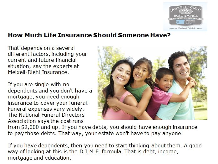 Http Meixelldiehl Com How Much Life Insurance Should Someone