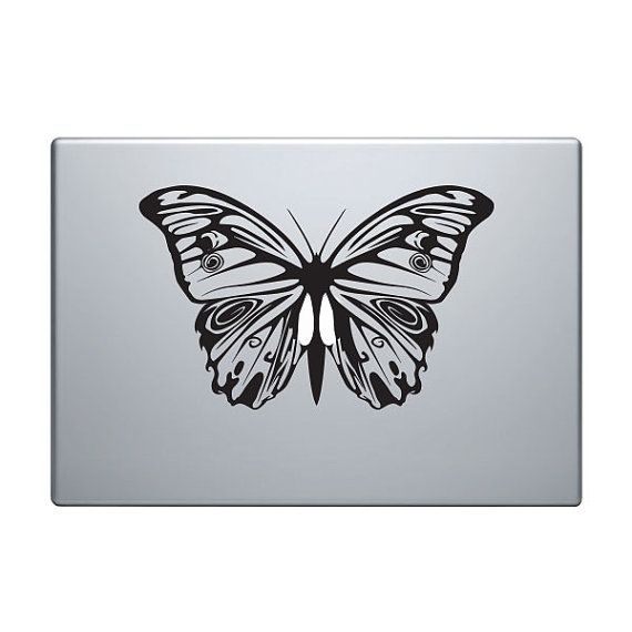 Butterfly Vinyl Decal Sticker To Fit Macbook Pro - Custom vinyl decals for macbook pro