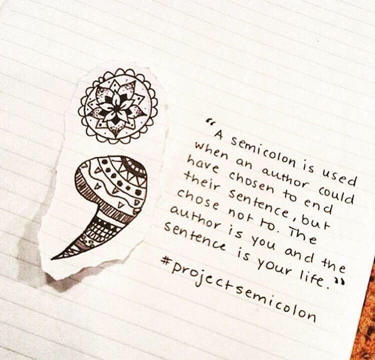 Yazzz On Tattssss Pinterest Semicolon Semicolon Tattoo And