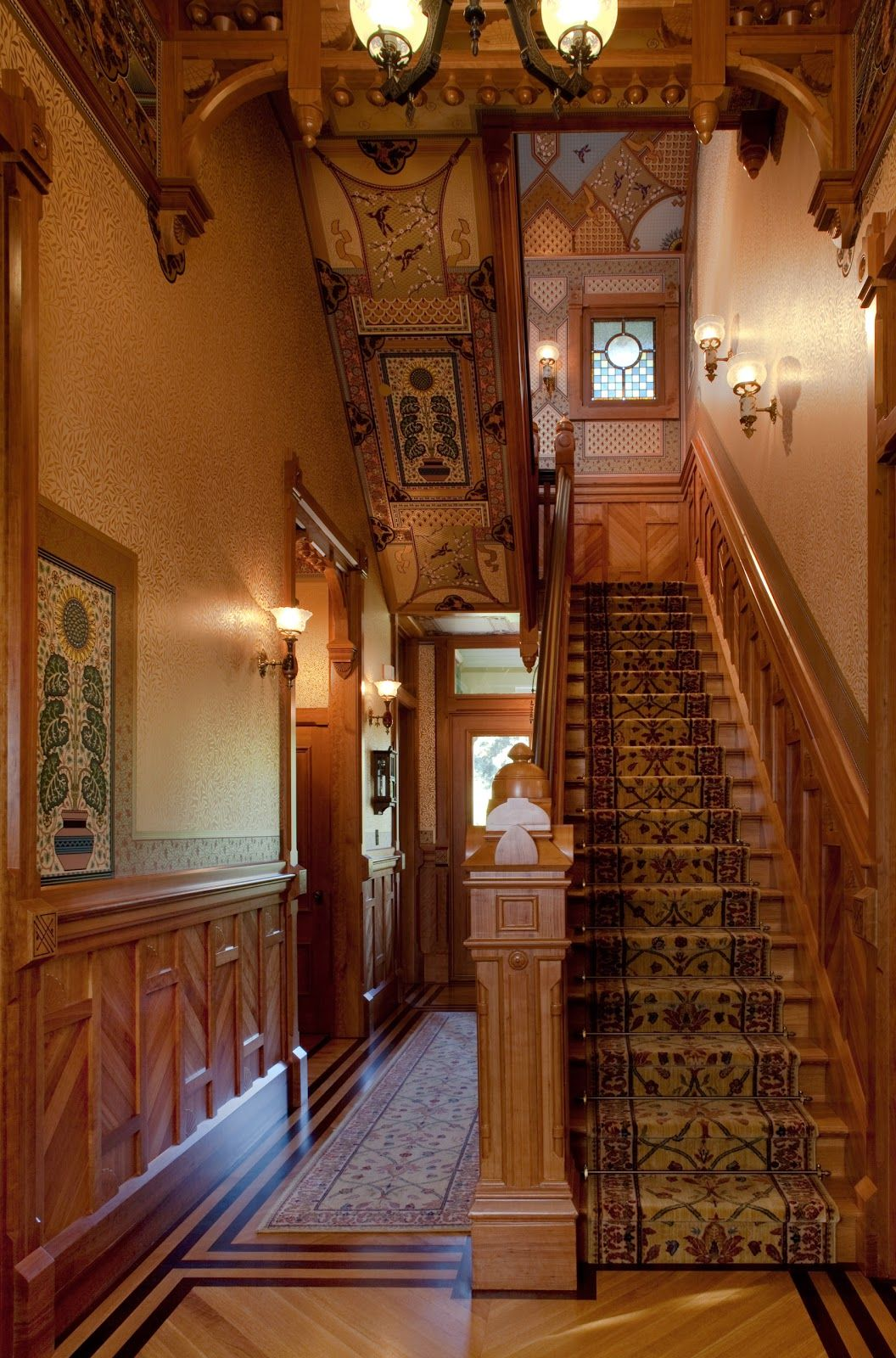 Best Mcdonald Mansion Main Stair Hall Victorian Decor 400 x 300