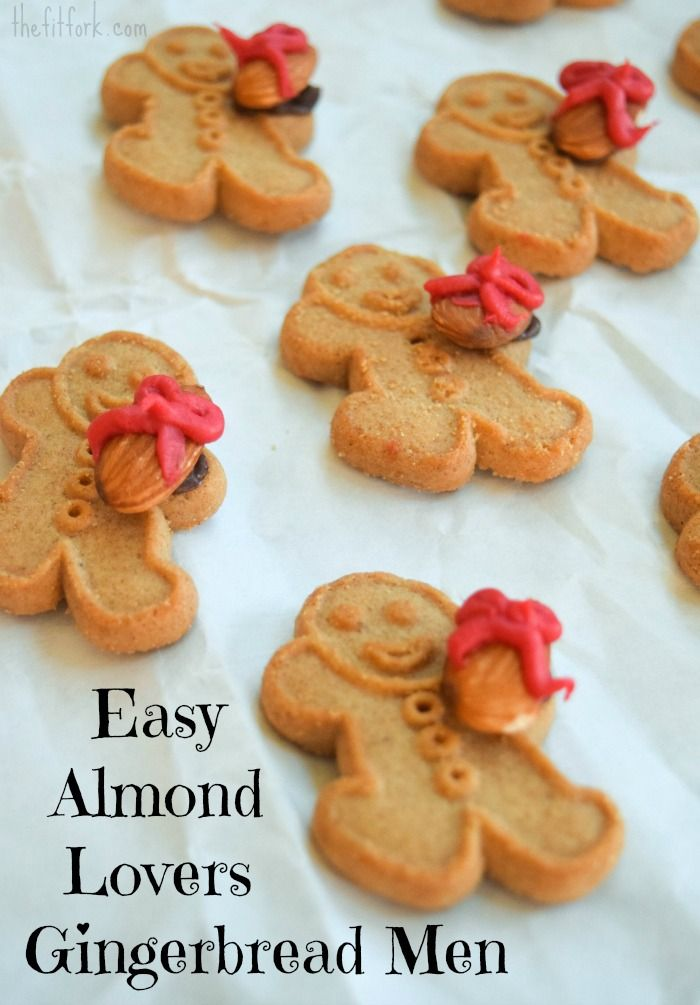 Easiest Ever Almond Ideas for Holiday Party including these adorable 5 minute almond gingerbread men @bluediamond  #ad