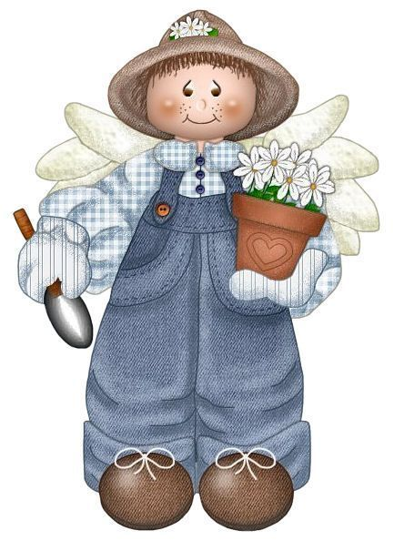 GARDEN ANGEL CLIP ART | Country paintings, Country art ...