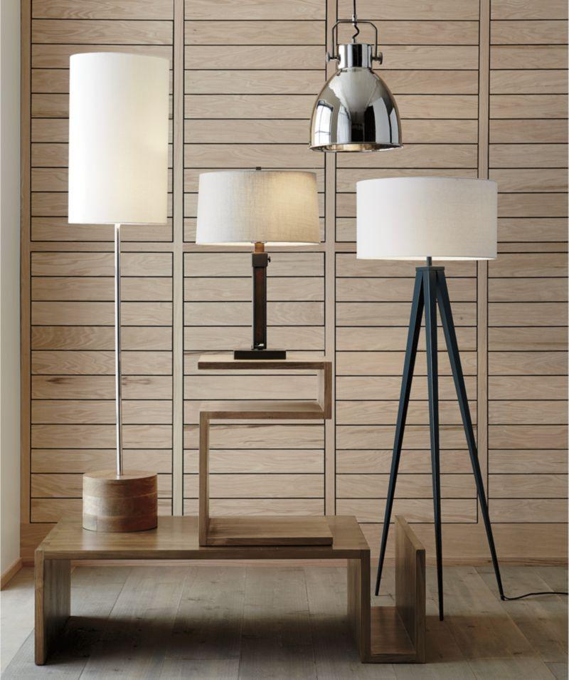 Denley Bronze Floor Lamp Crate And Barrel Bronze Floor Lamp Lamp Floor Lamp Bedroom