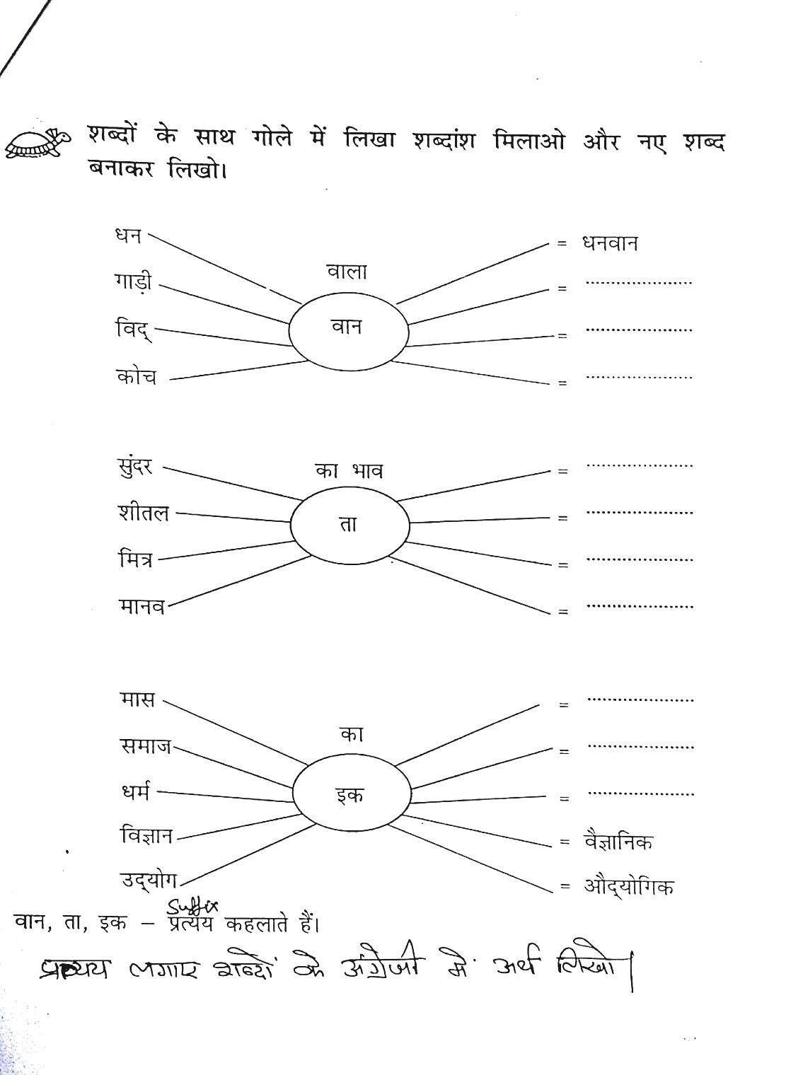 Hindi Worksheets By Sunita Dandu