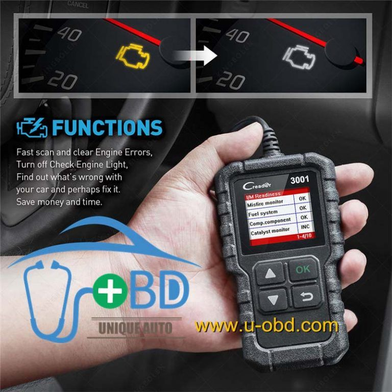 LAUNCH X431 CR3001 OBD Code Reader Support Full OBDII/EOBD