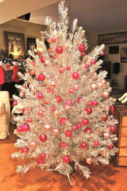 Vintage Junk In My Trunk Tinsel Christmas Tree Silver Tinsel Christmas Tree Silver Christmas Tree