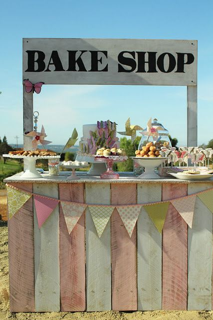 How to build your own vintage bake shop stand