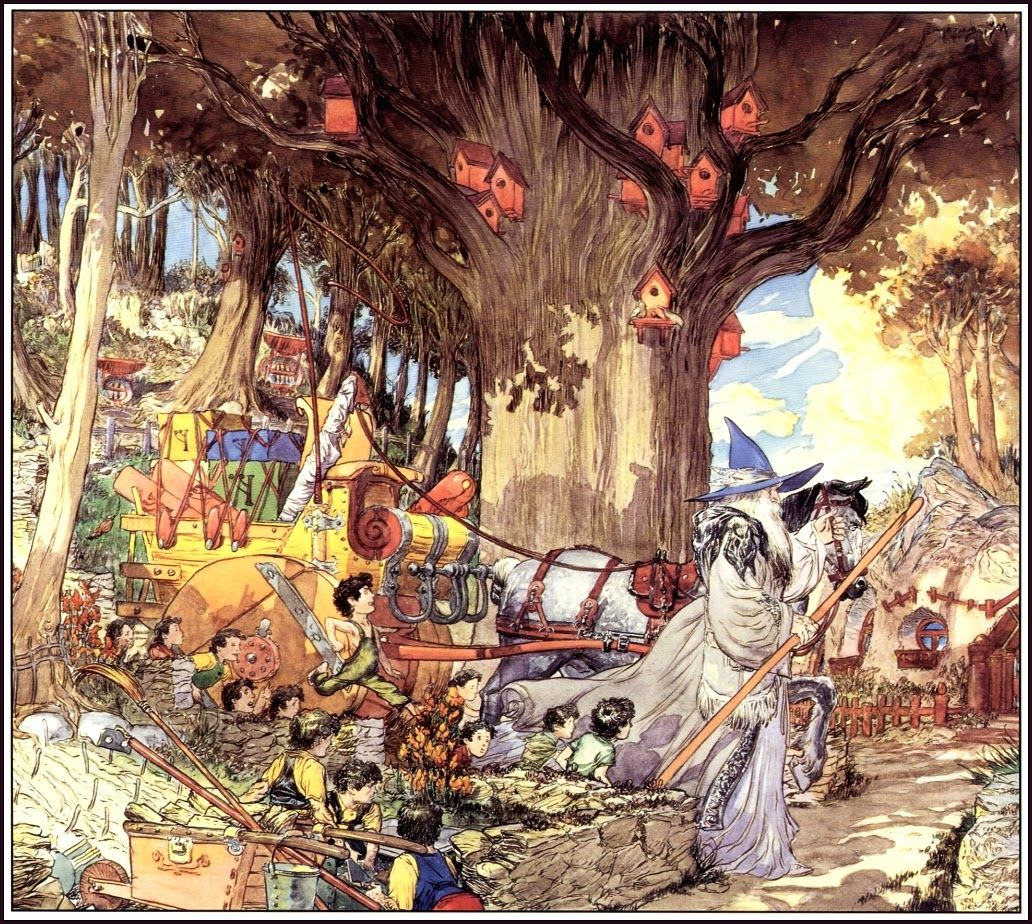The Golden Age: Michael W. Kaluta ~ The 1994 J. R. R. Tolkien Calendar