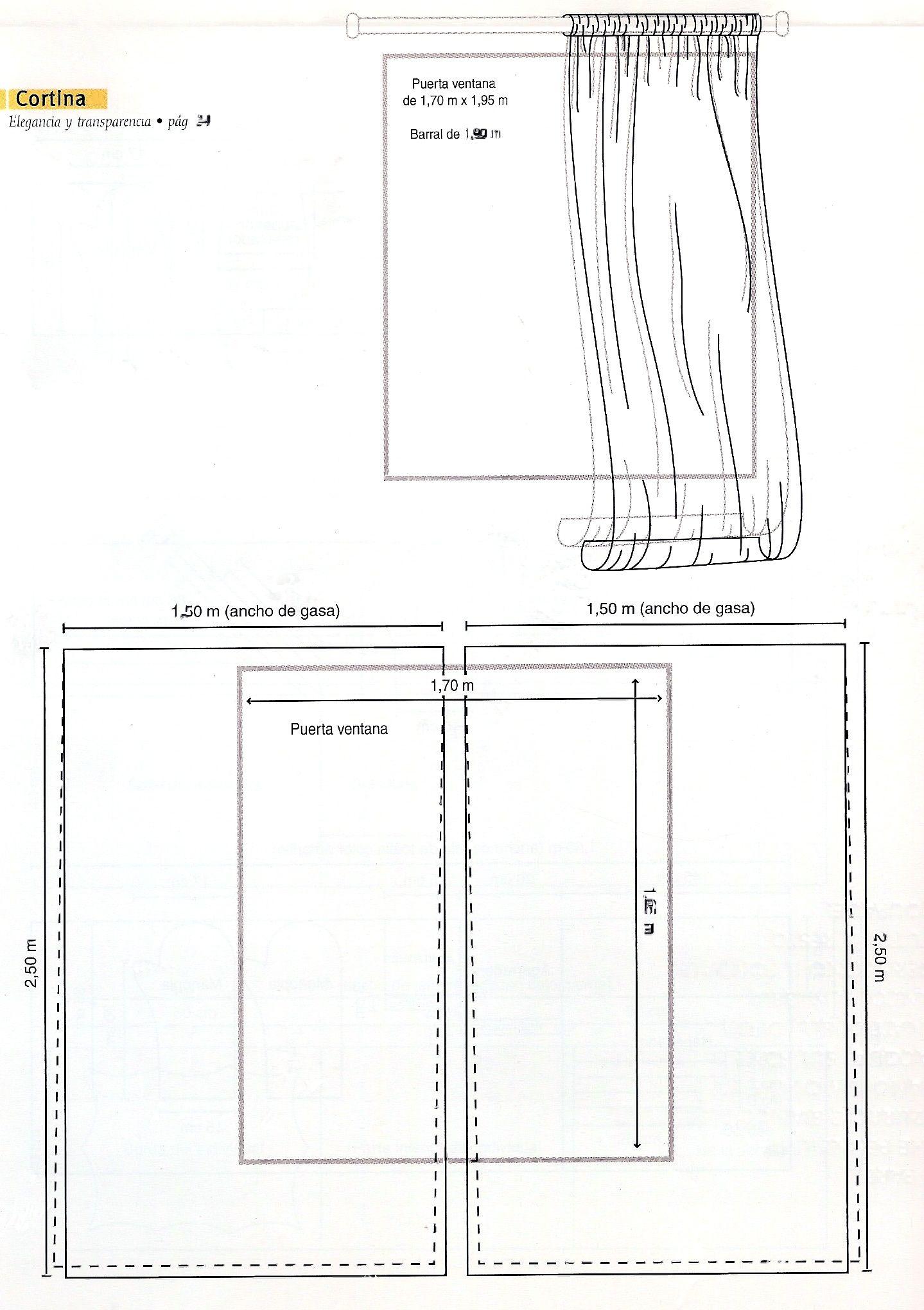 Moldes de cortinas | cortinas y otros | Pinterest | Cortinas, Molde ...
