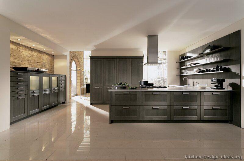 Modern Gray Kitchen Cabinets #06 Alno Kitchendesignideas Simple Contemporary Kitchen Cabinets Inspiration