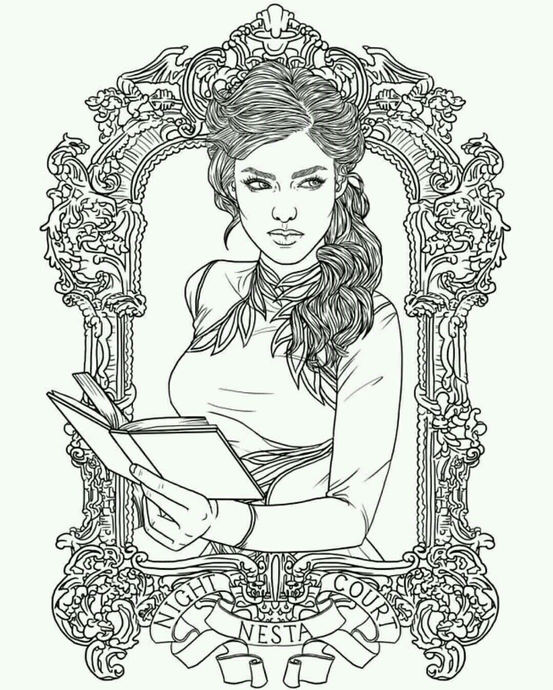 A Court Of Thorns And Roses Coloring Book Fresh Pin By S F On
