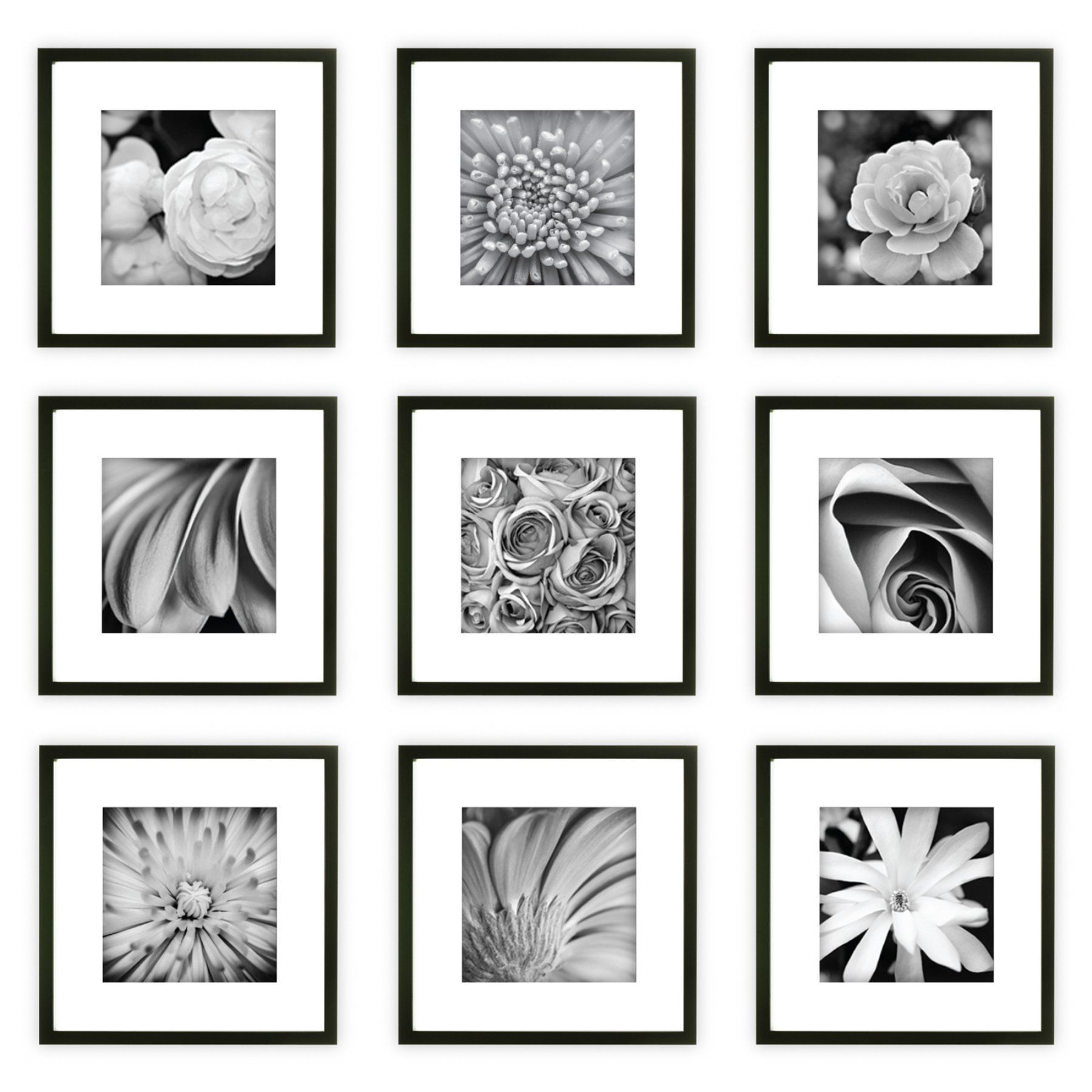 Nielsen Bainbridge Gallery Perfect Wall Picture Frame Kit with White ...