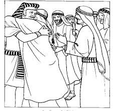 Image result for colouring picture of joseph forgives his