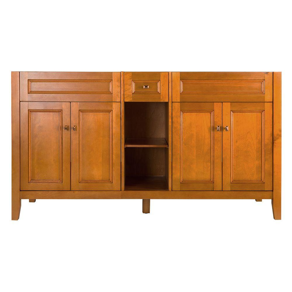 Home Decorators Collection Exhibit 60 In W X 34 H 21 5 8 D Vanity Cabinet Only Rich Cinnamon Tria6022d The Depot Bathroom Vanities Without Tops Decor
