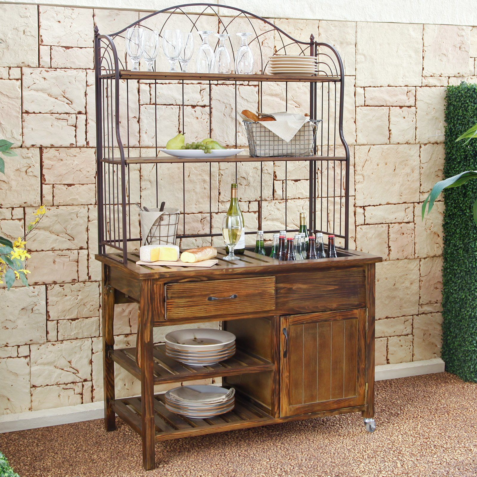 Have to have it Coral Coast Courtyard Rustic Outdoor Buffet