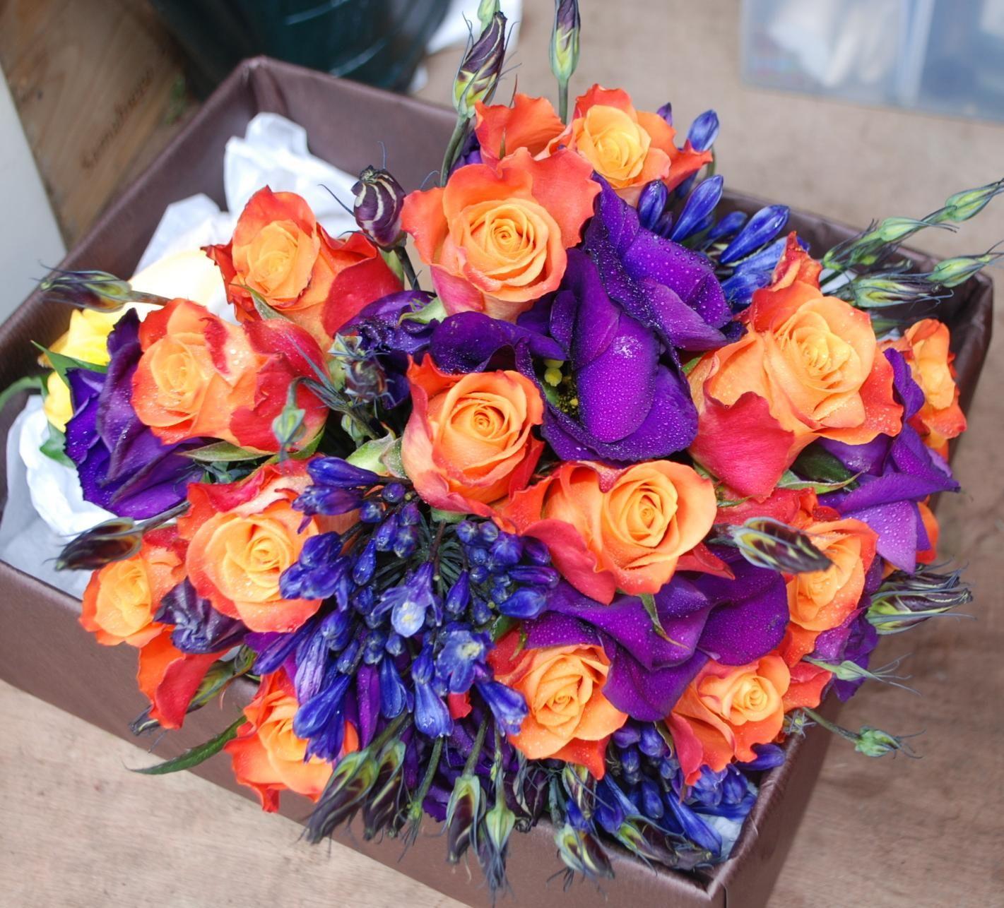 Purple Flower Wedding: Orange Wedding Flowers, Blue Wedding