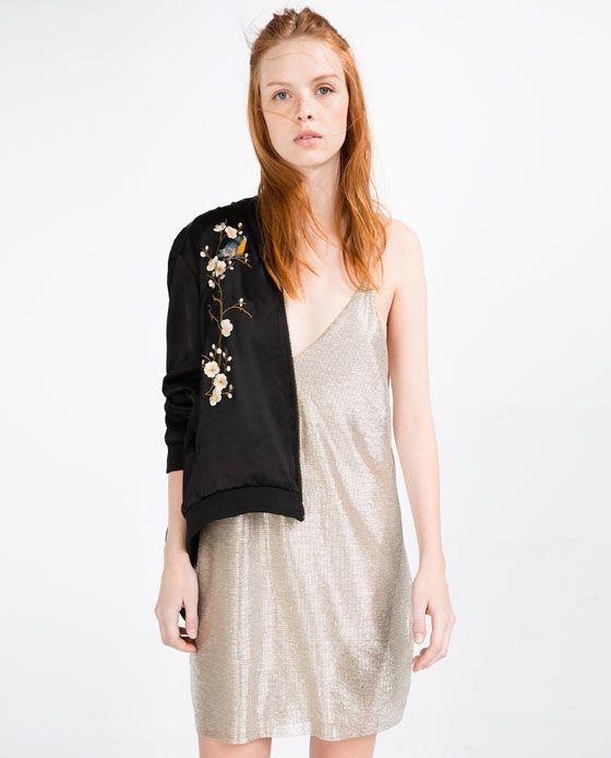 Bilde 1 fra KJOLE MED V-HALS fra Zara