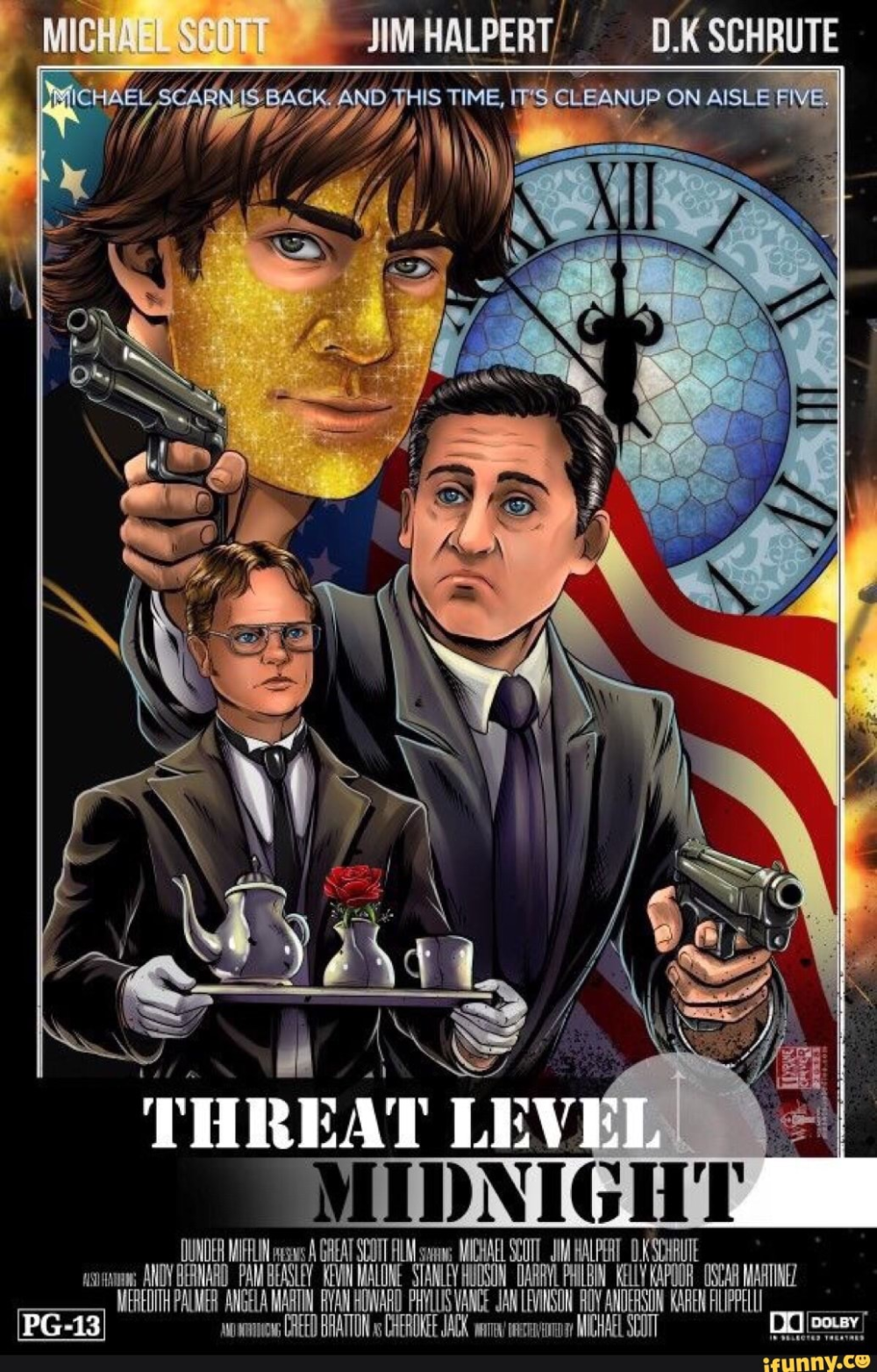 Full Threat Level Midnight Released From The Office With Steve Carell The Office The Office Show Office Humor Office Tv