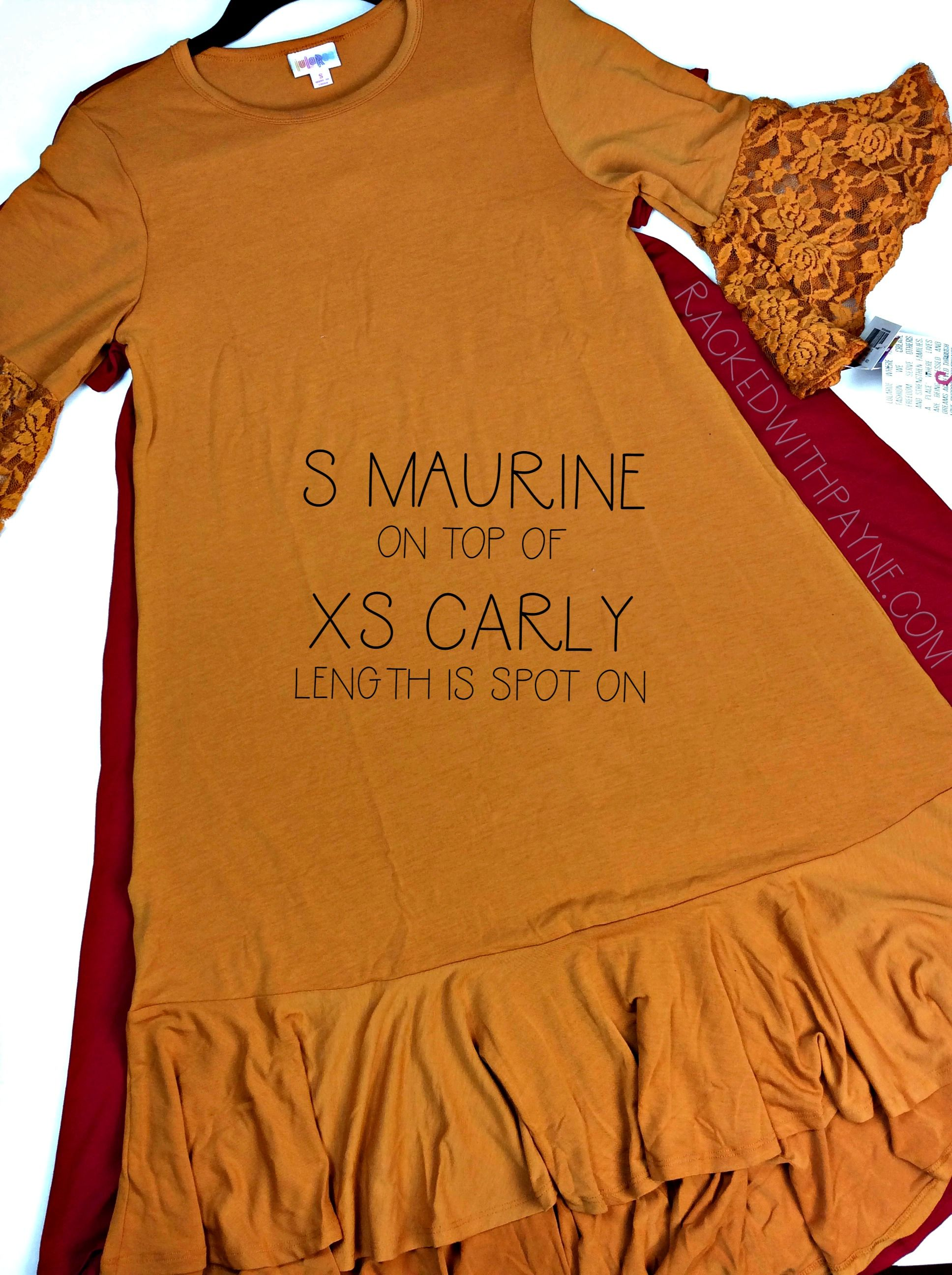 3cae1aa33de The new LuLaRoe Maurine is already a hit! Wondering what size you need  I  suggest going one size up from your Carly size!  lularoemaurine   lularoecarly