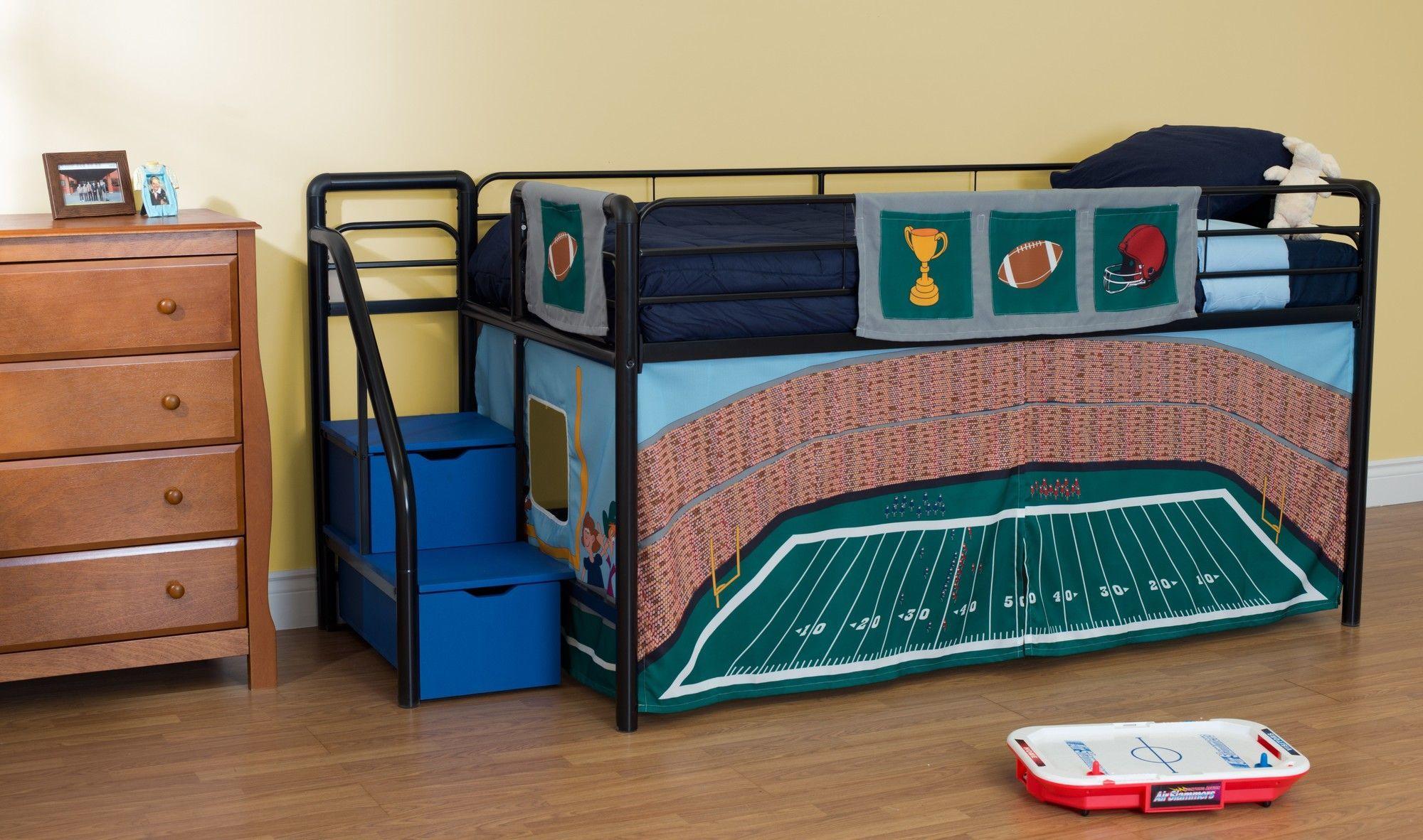 Football Stadium Curtain Set For Junior Loft Bed Junior Loft