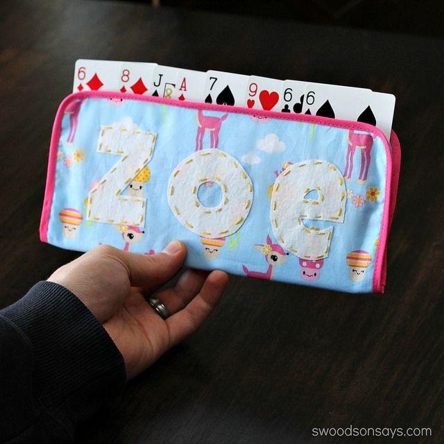 DIY Playing Card Holder for Kids Tutorial | Deko nähen, Freebooks ...