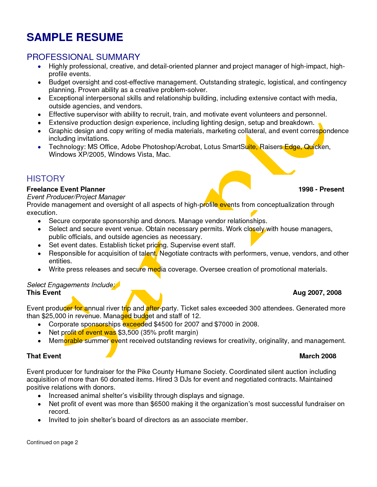 wedding  u0026 event planner resume sample      yesidomariage