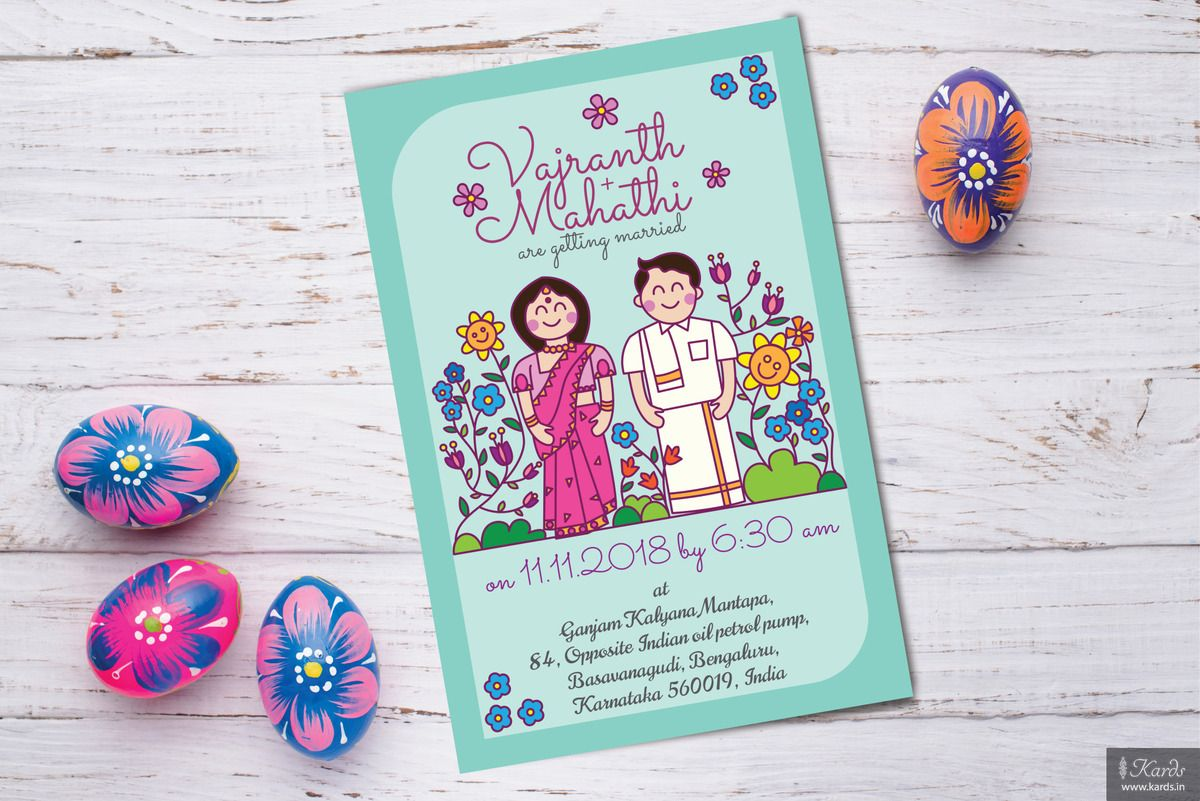 This doodle invitation brings with itself a modern twist to