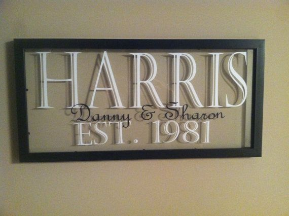 Personalized Picture Frames by Vinylmepretty01 on Etsy, $40.00
