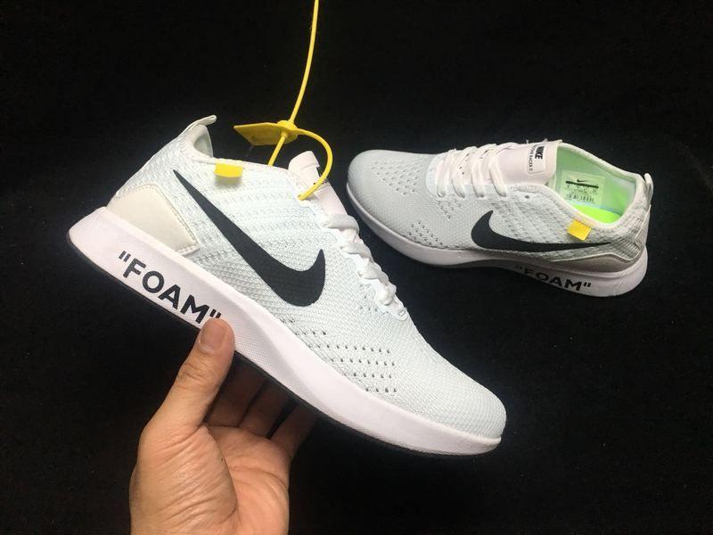 034c57e0b0fed 2018 Real Men Nike Flyknit Racer White Black 917682-001