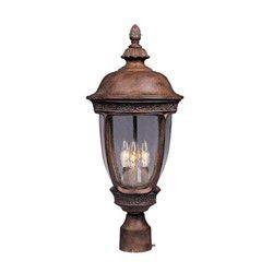 Maxim Knob Hill Cast 3-Light Outdoor Pole/Post Lantern