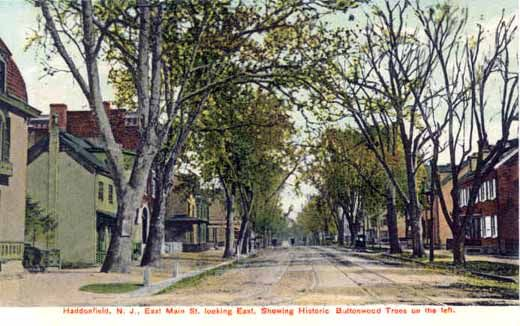 Old picture postcard of east main street haddonfield nj from the old picture postcard of east main street haddonfield nj from the west jersey history malvernweather Choice Image